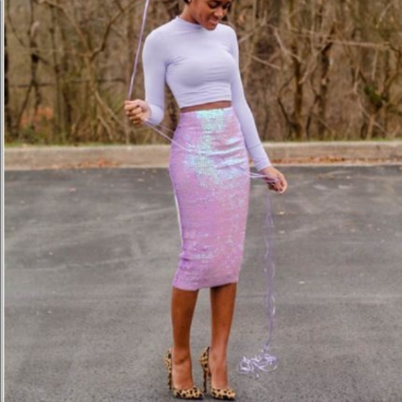03c16f2529 ASOS Skirts | Mermaid Purple Sequin Skirt Size Xs | Poshmark